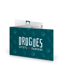 Réglette TOXICA®. Sensibilisation Drogues. Dépliant 3 volets format poche personnalisable