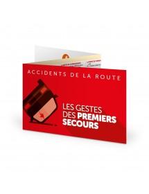 Accidents de la Route - Les Gestes de Premiers Secours - Réglette 3 volets Urgencia® Auto