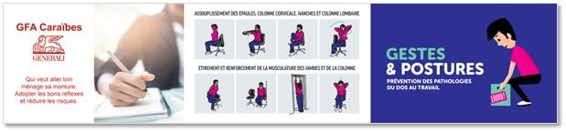 Gestes et Postures®. Réglette de sensibilisation Santé au Travail personnalisable www.mastercom.fr. Modèle client GFA Caraïbes