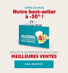 En janvier : 30 % de remise sur votre édition de réglettes Alcool Zéro-Cinq®